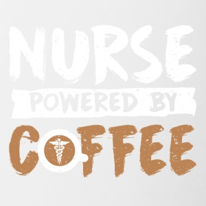 Nurse supported by coffee spells - Contrasting Mug