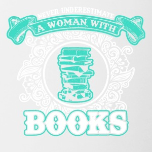 No woman's reading the books - Contrasting Mug