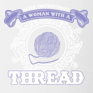 Never underline a woman with wool sayings - Contrasting Mug