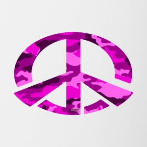 Peace - Pink Camo Edition - Tasse zweifarbig