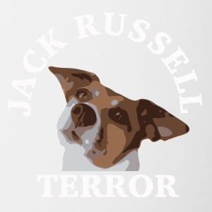 Jack Russell terror2 bianco - Tazze bicolor