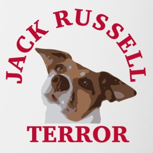 Jack Russell terror2 red - Contrasting Mug