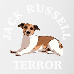 Jack Russell terror3 white - Contrasting Mug
