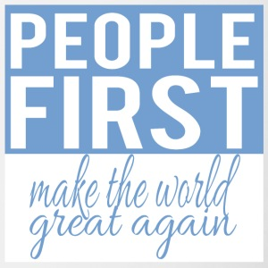 people first - make the world great again - Tasse zweifarbig