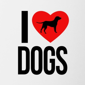 I Love Dogs - Tazze bicolor