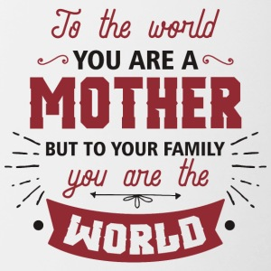 Mother You are My World - Contrasting Mug