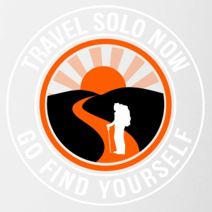 Travel Solo Now, Go Find Yourself - Contrasting Mug