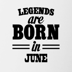 Legends are born in June - Contrasting Mug