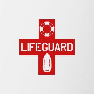 lifeguard lifesaver - Mok tweekleurig