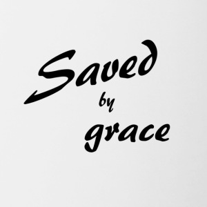 Saved by grace - Contrasting Mug