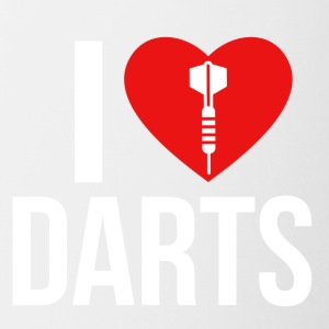 I LOVE DARTS WHITE - Contrasting Mug