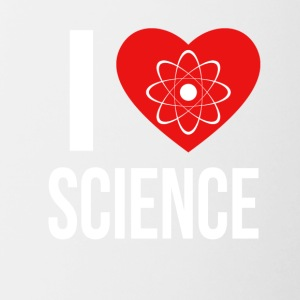 I LOVE SCIENCE WHITE - Tasse zweifarbig