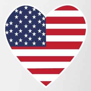 USA Love Heart - Tofarvet krus