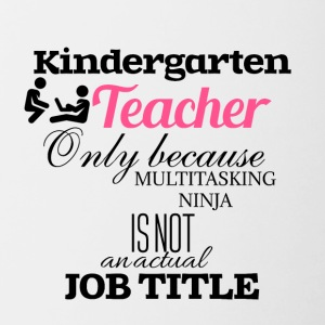 Nursery Teacher - Contrasting Mug