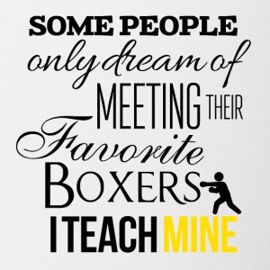 Some people want to meet their favorite boxers - Contrasting Mug