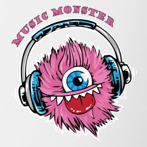 Monster Musik - DJ - Party - Tvåfärgad mugg