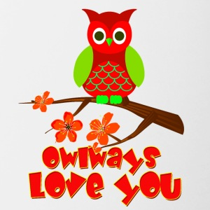 owlways love you - Contrasting Mug