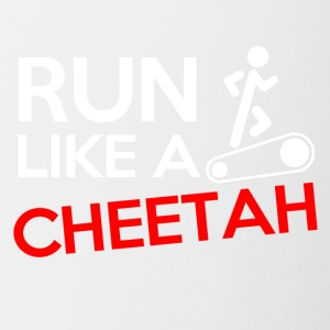 Run like a cheetah! - Tasse zweifarbig