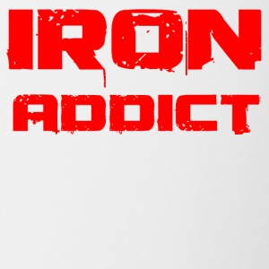 iron addict red - Tasse zweifarbig