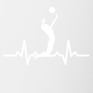 My heart beats for Volleyball - Contrasting Mug