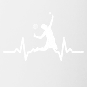 My heart beats for Badminton - Contrasting Mug
