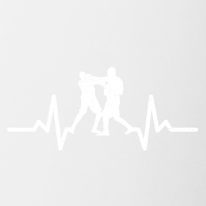 My heart beats for boxing - Contrasting Mug