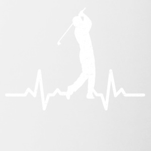 My heart beats for Golf - Contrasting Mug