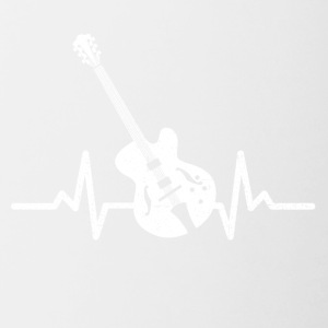 My heart beats for my electric guitar - Contrasting Mug