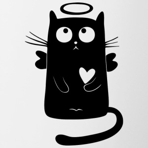 angelic cat - Contrasting Mug