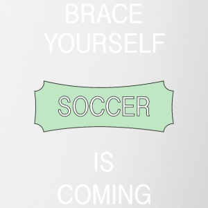 Brace Yourself Football Is Coming - Football Shirt - Tasse bicolore