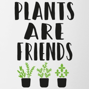 PLANTS are friends - Tasse zweifarbig