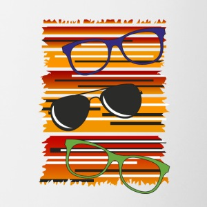 Orange glasses - Contrasting Mug