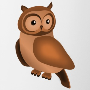 Owl in brown - Contrasting Mug