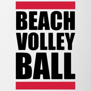 volleyball T-shirt - beachvolley shirt - Strand - Tofarvet krus