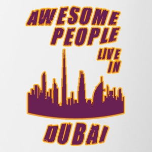 Dubai Awesome people live in - Taza en dos colores