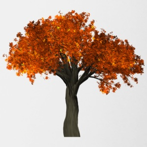 Tree with orange leaves - Autumn - Contrasting Mug