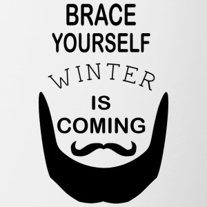 Brace Yourself Winter Is Coming Beard - Black - Contrasting Mug