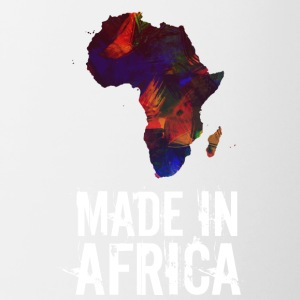 Made In Africa / Africa white writing - Contrasting Mug