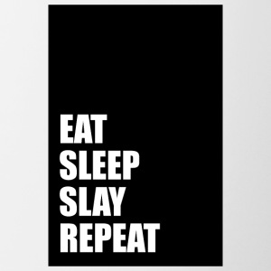 Eat Sleep Slay Repeat - Tasse bicolore