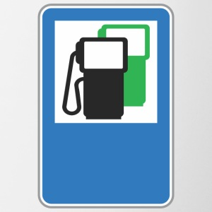 Road sign gas station green - Contrasting Mug