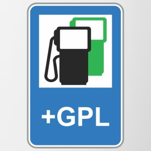 Road sign gas station green gpl - Contrasting Mug