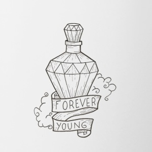 Forever young - Tasse bicolore