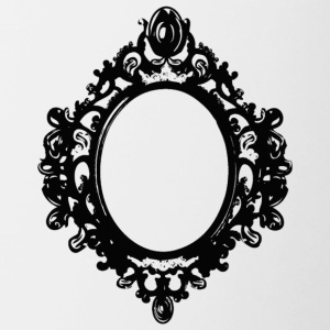 black mirror frame by berrykissed - Taza en dos colores