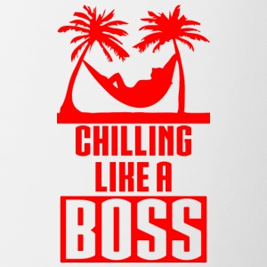 CHILLING LIKE A BOSS red - Contrasting Mug