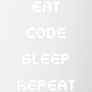 Eat Sleep Repeat Code - Contrasting Mug