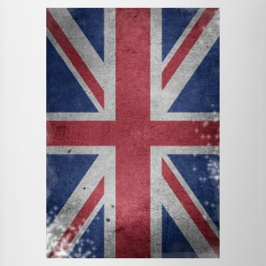 gb-flag Britain English Union Jack destroyed UK - Contrasting Mug