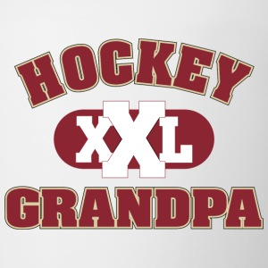 Hockey Grandpa Grandfather - Contrasting Mug