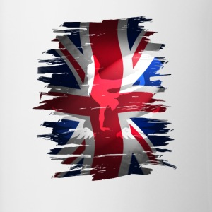 Union Jack flag britain Stunt England destroyed ro - Contrasting Mug