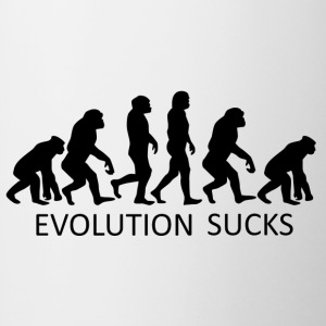++Evolution Sucks++ - Tasse zweifarbig