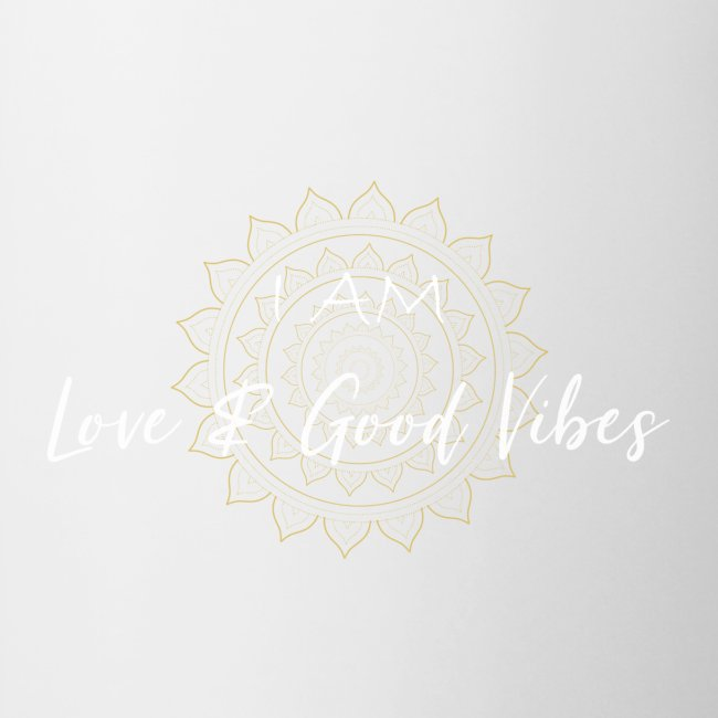 I am love and good vibes white gold